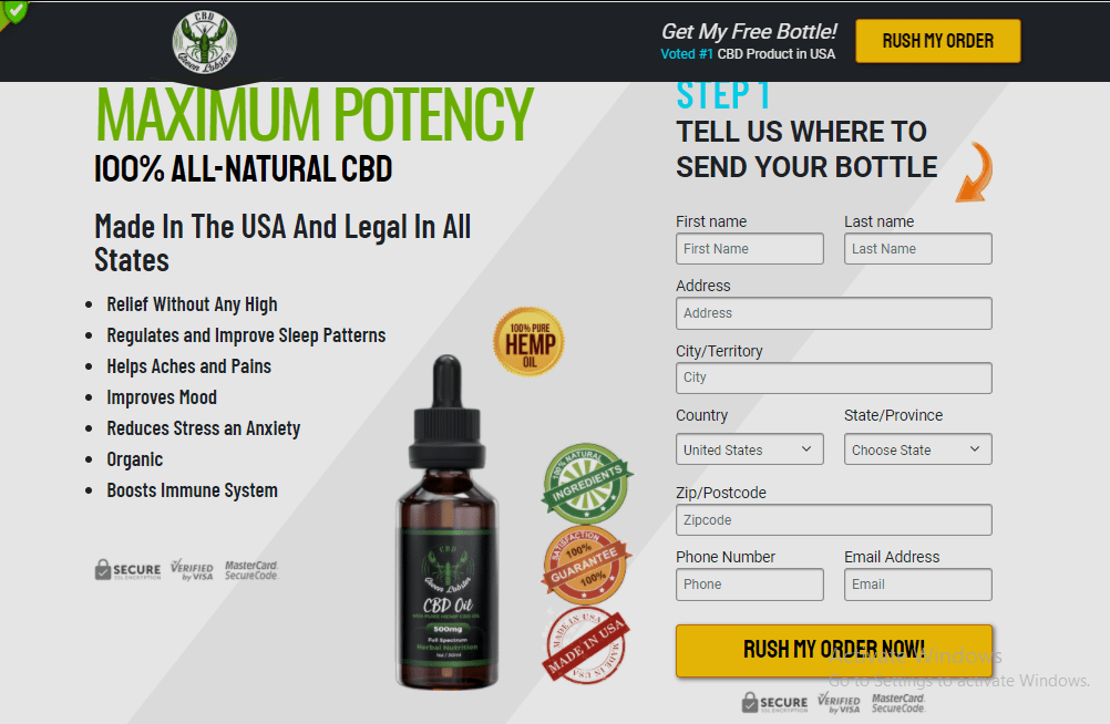 Green Lobster CBD Oil gummies scam