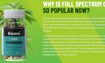 Keoni CBD Gummies Reviews 2021 - Scam Alert! Get Bottle Now