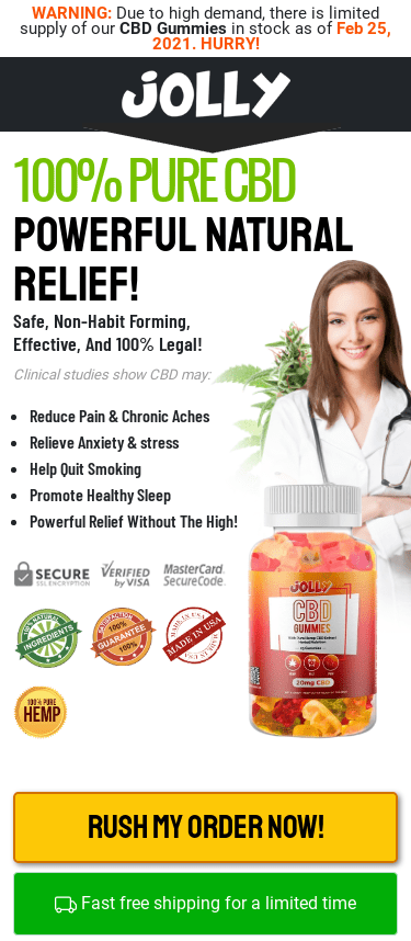 Jolly CBD Gummies Reviews 2021 Advanced Pain Relief Formula