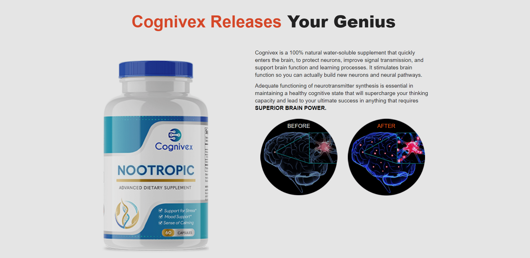 Cognivex Reviews - Think Faster - Be Smarter GENIUS PILL