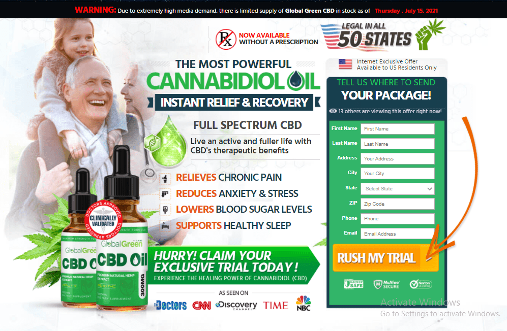 Global Green CBD Oil Reviews – Does it Work or Scam?