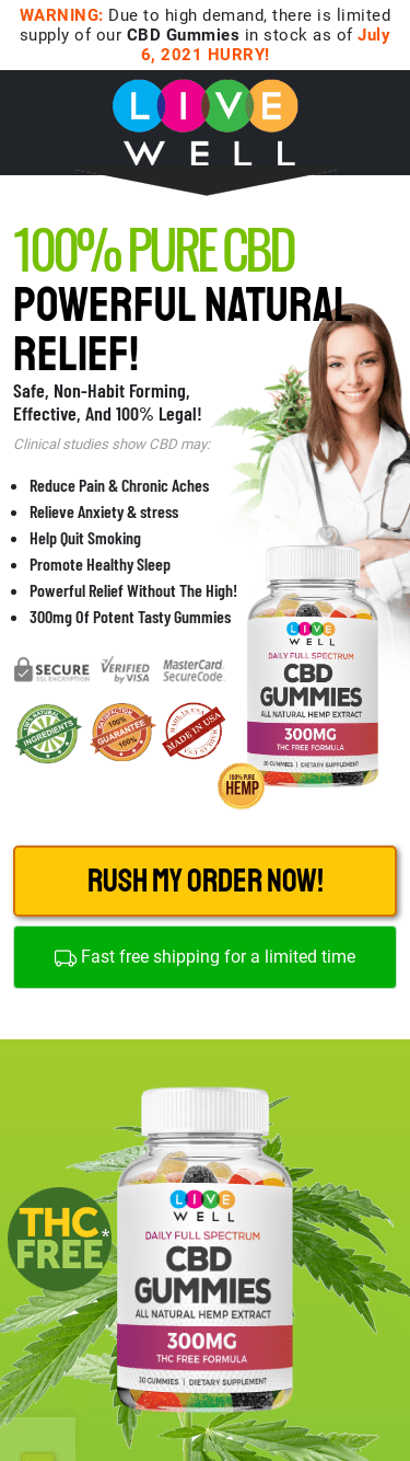 Live well CBD Gummies Reviews – Does it Really Work?