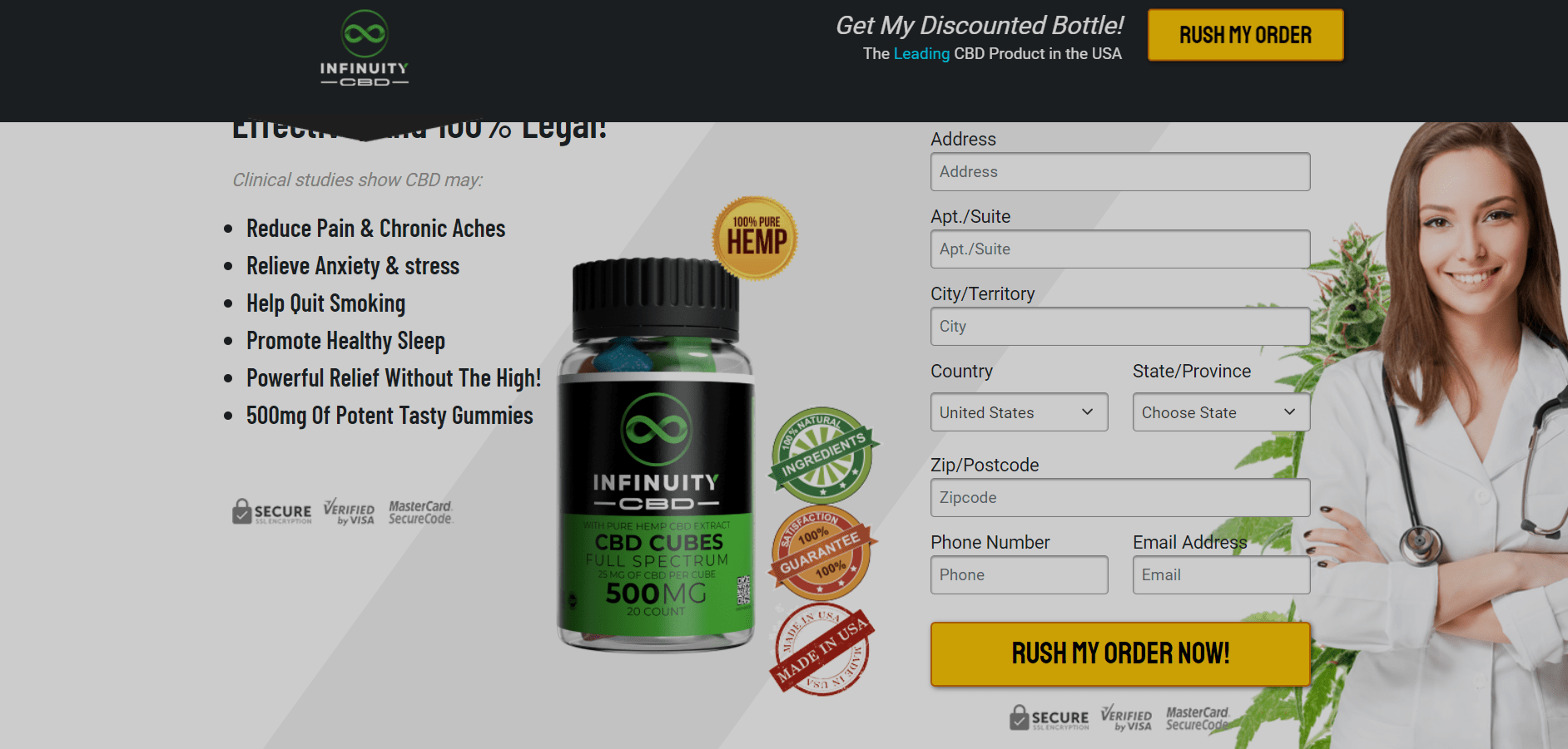 Infinuity CBD Gummies Reviews 2021 - Does it Really Work?